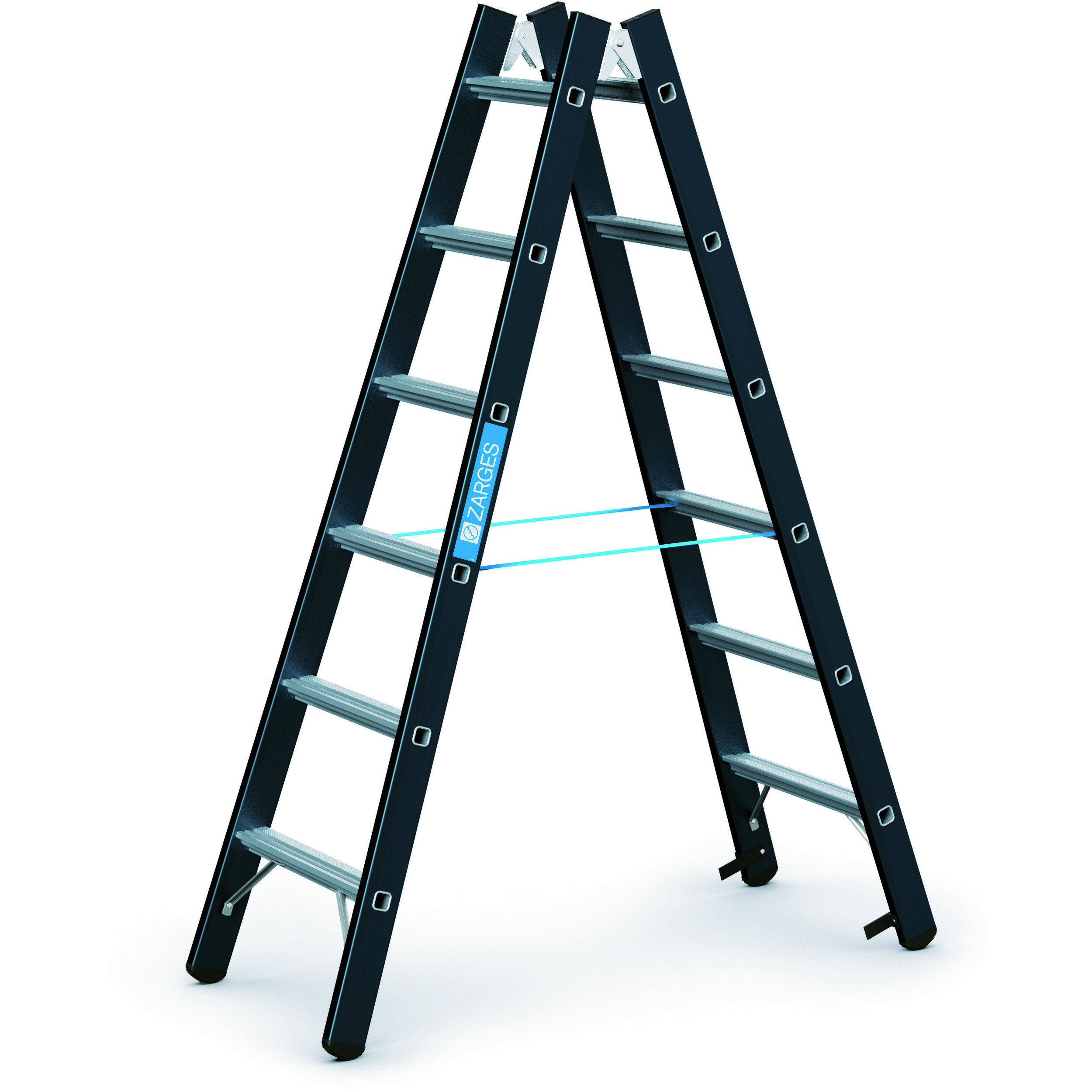 Megastep B   Stepladders, double-sided access   ZARGES