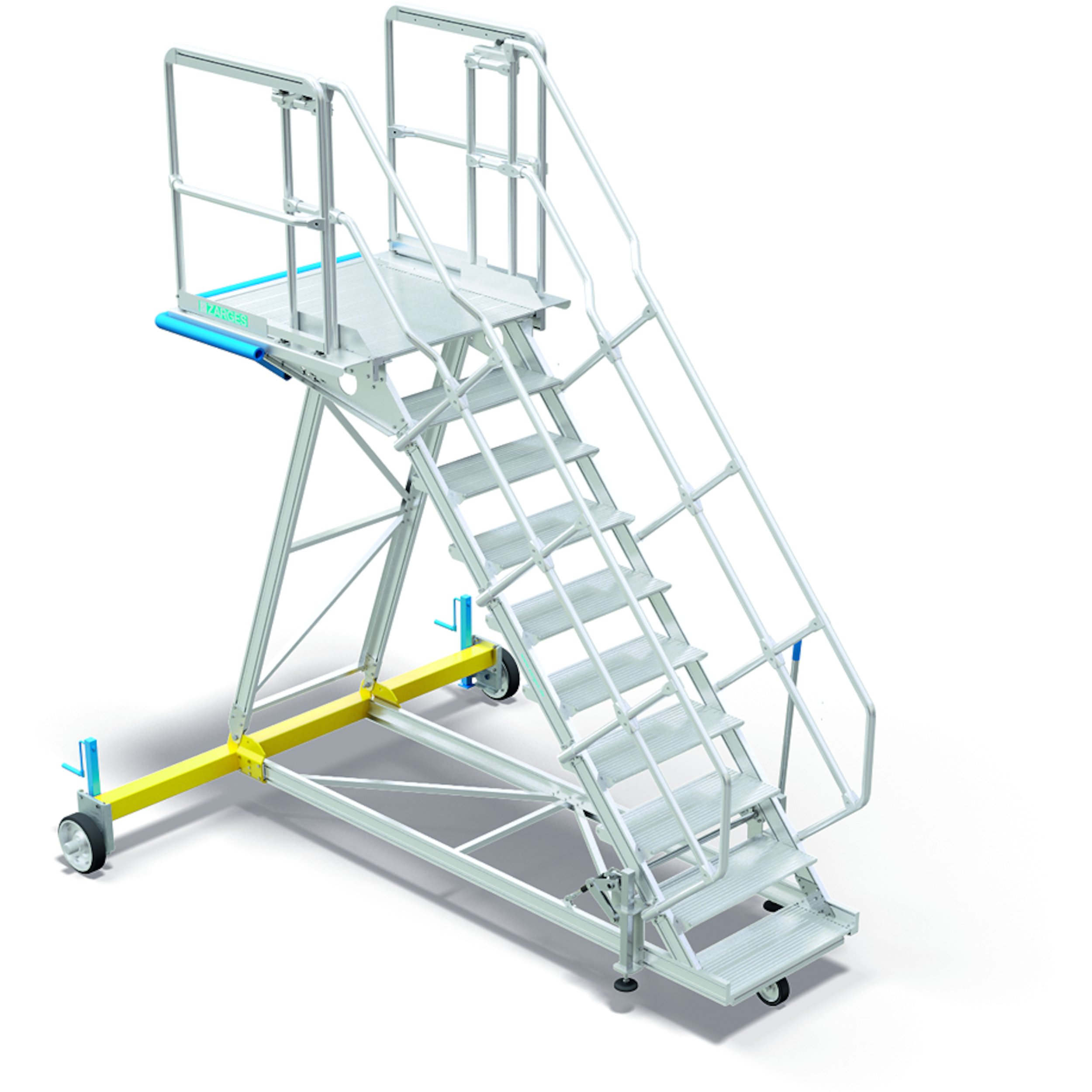 Universal maintenance stairs with fixed height for the